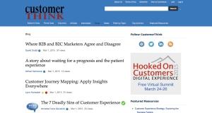 CustomerThink Blog Entries
