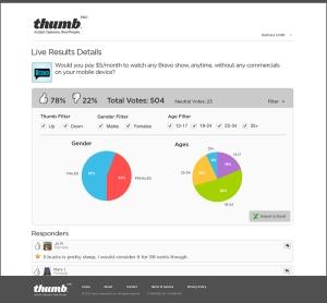 Thumb Pro Analyze Responses Function